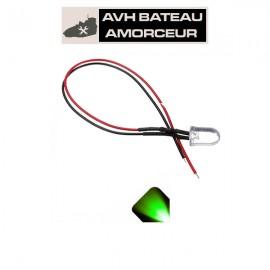 Led verte ultra bright 6-15 volts présoudé (1 pièce)