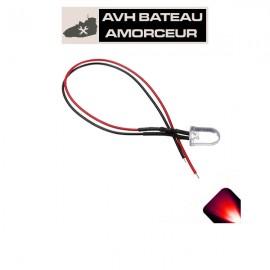 Led rouge ultra bright 6-15 volts présoudé (1 pièce)