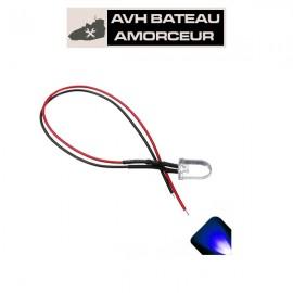 Led bleu ultra bright 6-15 volts présoudé (1 pièce)