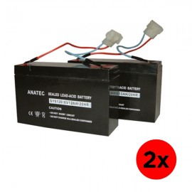Lot de 2 batteries compatibles pour catamaran et monocoque anatec