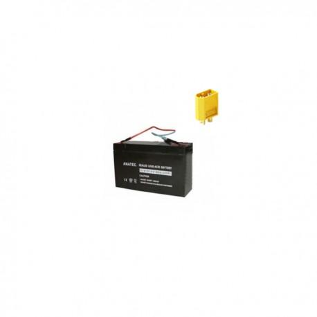 Batterie 6v 12amp connectique jaune